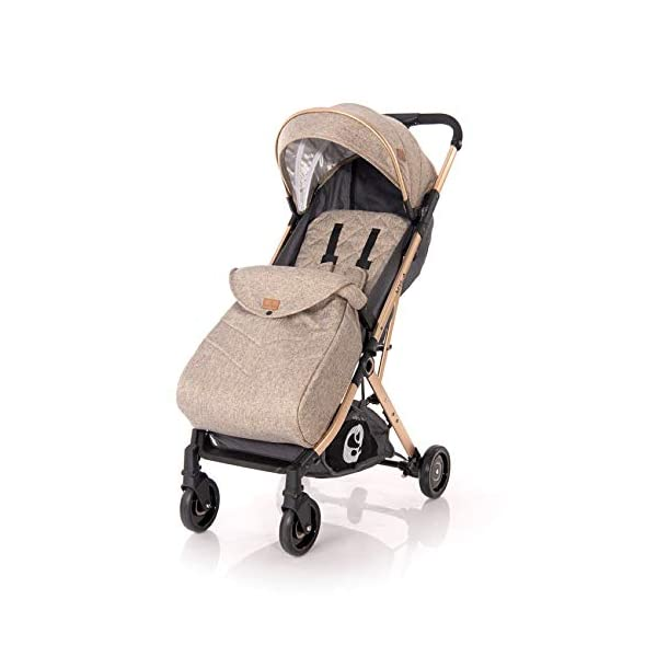 Lorelli Myla Pushchair Aluminium Frame Basket footmuff Foldable with Handle, Colour:Beige Lorelli stroller for children from birth, light aluminium frame sun canopy, adjustable back and footrest, 5-point safety belt innovative folding system with additional handle, foldable with one hand, carrying bag for transport 4