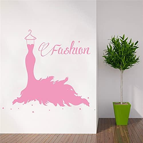 Decoración de la Ventana de la Tienda Etiqueta de la Pared salón de Belleza Mujer Estilo de Moda Ropa decoración del hogar 42x46 cm