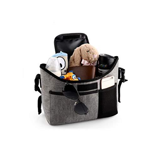 2 véhicules tout-terrain, sac de transport pour bébé, sac de rangement, grande capacité, porte-gobelet.