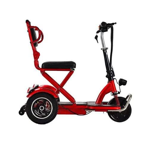 WUYANJUN Scooter de Movilidad eléctrica Plegable de 3 Ruedas, Triciclo recreativo portátil,...