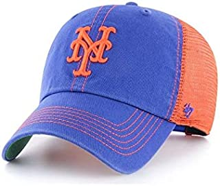 '47 New York Mets Trawler Clean Up Adjustable Trucker Hat - Black/Orange
