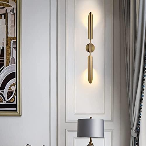 ZZZHJ Luz de pared de diseño retro nórdico Lámparas de latón elegante Noble Enchufe en/Montaje de pared Adecuado for soporte de vela LOFT LOFT Barras de barras Lighting Lighting Wall Sconence