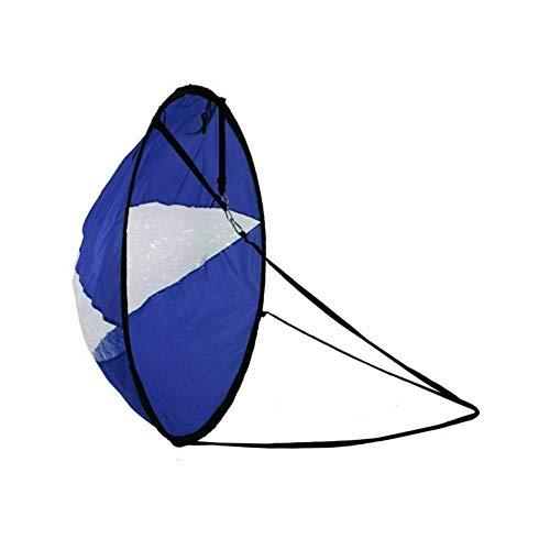 Kayak Voile Voile 108 Cm Transparent Pliable Fenêtre Voile Kayak Vent Voile Kayak Voile Rame,CanoË Instantanément Voiles-facile à Installer & Déploiement Rapide & Portatif & Compact