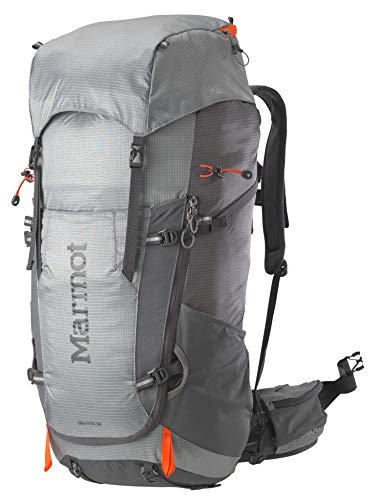 Marmot Wanderrucksack Mit Innengestell, Trekkingrucksack, Reiserucksack, 38 L Fassungsvermögen Graviton 38 Backpack, Steel/Cinder, One Size, 24690