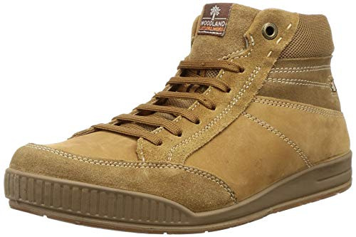 Woodland Men's Ogb 3324119_Camel Leather Boots-7 UK (41 EU) (8 US) 3324119CAMEL
