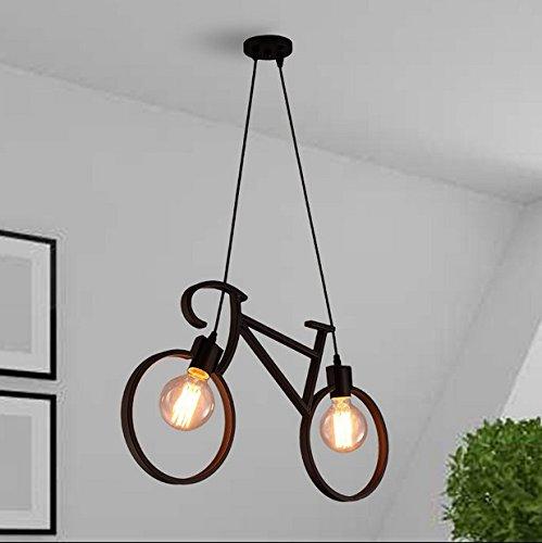 Moderna lampada pendente Creative DIY lampadari in ferro bicicletta bambini camera da letto in camera Ristorante Lobby warehouse loft gallerie d'arte ,61*37cm lampadario