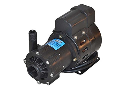 """KoolAir Pumps PM1000-115 ODP, Not Submersible, 115 Volts, 1000 GPH Marine Air Conditioning Seawater Coolant Pump, 56"""" Cord, Inlet 1"""" FPT x Outlet 1/2"""" MPT, Intertek ETL-Certified"""