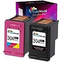 ColoWorld 304XL - Repuesto para Impresora HP 304XL para HP Deskjet 2620, 2630, 2632, 3700, 3720, 3730, 3733, 3735, Envy 5030, 5020, 5032 (1 Negro, 1 Tricolor)