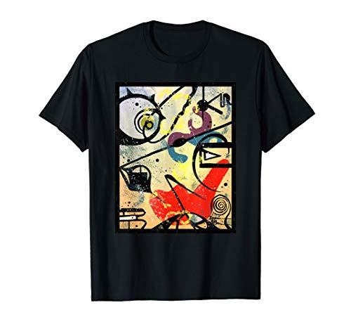 Aquarell-Kunst-Geschenk Kandinsky Art-grafische Hipster-Mode T-Shirt