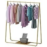 Riel de ropa resistente, estante de exhibición de ropa de metal, perchero de ropa independiente, estante de secado de...