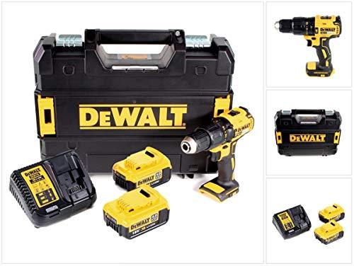 DeWalt DCD 778 M2T - Taladro atornillador inalámbrico (18 V, 65 Nm, incluye 2 baterías de 4 Ah, cargador en caja TSTAK)