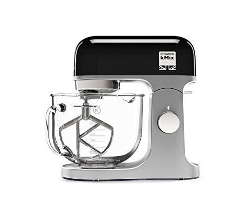 Kenwood 0W20011139 kMix Stand Mixer for Baking, Stylish Kitchen Mixer with K-beater, Dough Hook and Whisk, 5 Litre Glass Bowl, Removable Splash Guard, 1000 W, Black