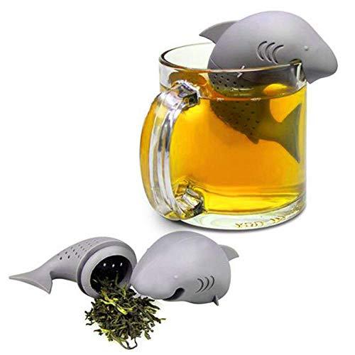 FGHOMEYWXC 1 Filtro da tè con Filtro in Silicone per infusore di tè di squalo