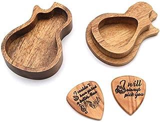 ギターピッキングボックスピッキングセットパーソナライズされたピッキングボックス3つのピックを含むカスタマイズ可能なピッキングボックス