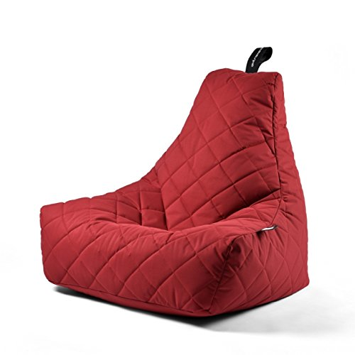 Poltrona a Sacco OUTDOOR - b-bag mighty-b Red - Quilted - Resistente all'acqua - 100% Polyester - Resistente UV 7/8