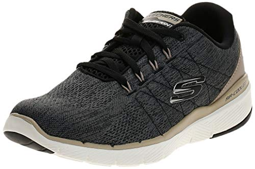 Skechers FLEX ADVANTAGE 3.0- STALLY-52957, Herren Low-Top, Schwarz (Black Blk), 44 EU