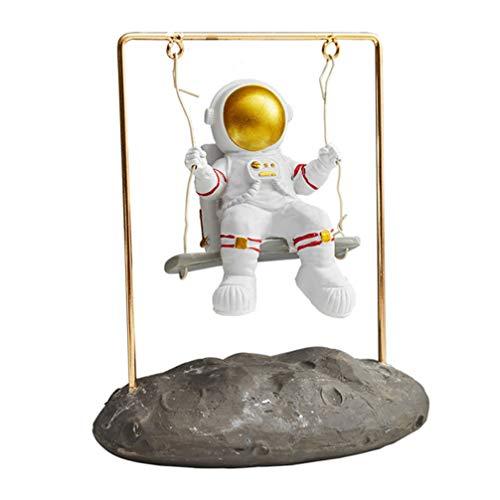 GARNECK Astronaut Statues Sculpture Figurine Spaceman Sitting on Swing...