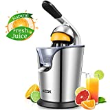 Aicok Orange Juicer, Citrus Juicer with Humanized Handle Citrus Press, Stainless Steel Anti-Drip