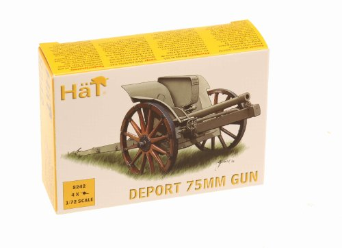 HäT 8242 Deport Gun Canon Miniature Italienne de la 1ère Guerre Mondiale 75 mm Echelle 1:72