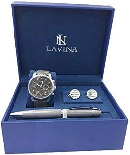 لافينا ساعة رسمية رجال انالوج بعقارب جلد - L767656