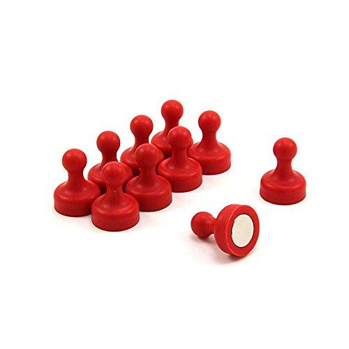 Magneet Expert High Power Rode Skittle Magneet - Kantoor & Koelkast (19mm dia x 25mm hoog) (Pack van 10)