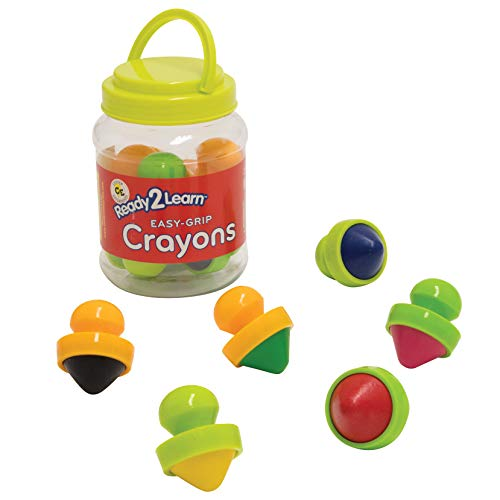 READY 2 LEARN Easy Grip Crayons - 6 Colors - 18m+ - Non-Toxic Toddler Crayons - Easiest to Hold - Refills Available