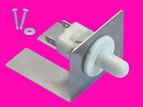 Motorhaubenschalter Motorhauben-Druckschalter für KFZ mit Alu-Befestigungswinkel + 2 selbstschneidende Schrauben + U-Scheibe   Zubehör für Marder-Abwehr-Geräte + andere KFZ-Verbraucher 12V   Z004Set