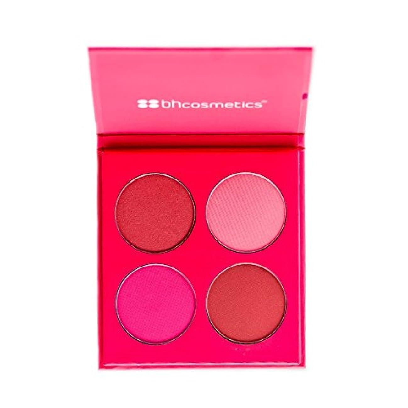 記念碑的な十分な手足BHCosmetics BH化粧品パーフェク4色チークパレット ピンク