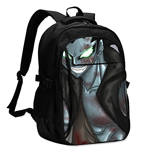 Fairy Tail Gajeel Redfox Travel Anti Theft 13-16 inch Laptop Backpack with USB Charging Port and Headset Interface Multipurpose Large Capacity for Everyone