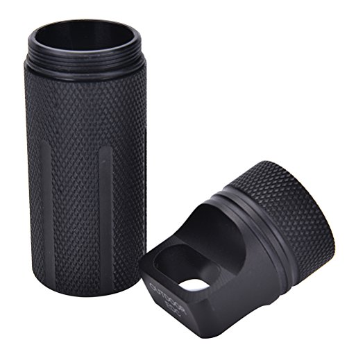 SevenMye – Wasserdichte Flasche mit Kapseldichtung, für Outdoor-EDC-Survival, Pillendose, Trockenbox, Flat Top