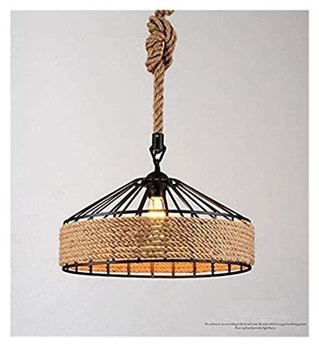 All2Shop una araña Campo/candelabro de Hierro/Bar Retro Creativo/cafetería/Bar/Estudio/Pasillo/lámpara de Cuerda, diámetro 43 cm