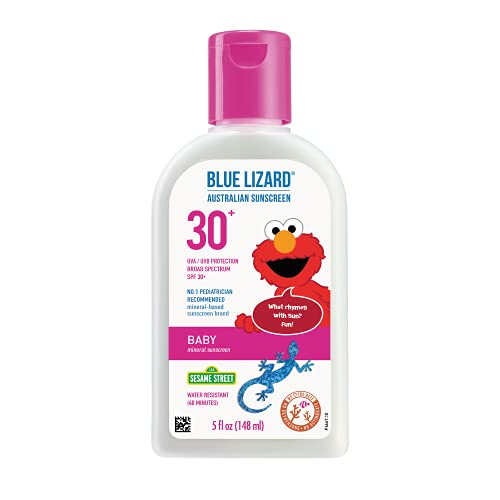 BLUE LIZARD Blue Lizard Baby Mineral Sunscreen, No Chemical Actives SPF 30+ UVA/UVB Protection, Unscented, 5 Fl Oz
