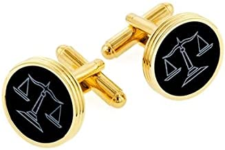 product image for JJ Weston Onyx Etched Lawyer Cufflinks. Made in the USA.