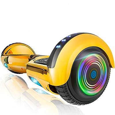 XPRIT Hoverboard w/Bluetooth Speaker (Metal Gold)