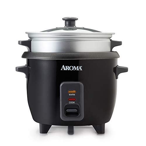 Aroma Housewares ARC-363-1NGB 2-6 cups Cooked Rice cooker, Steamer, Multicooker, Silver