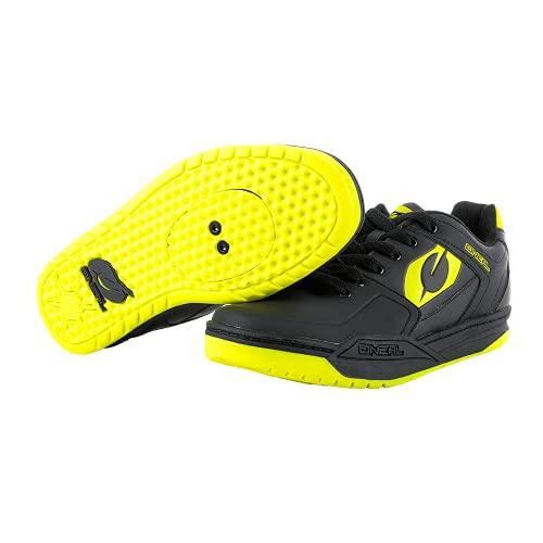 O'NEAL | Chaussures de vélo | VTT DH FR Downhill Freeride | Compatibles avec pédales SPD, matière respirante, dessus: PU durable et léger | Chaussures PINNED SPD | Adulte | Noir-Jaune fluo | Taille 40