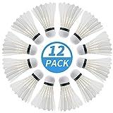 PHYOPUS Badminton Birdie, 12 Pack...