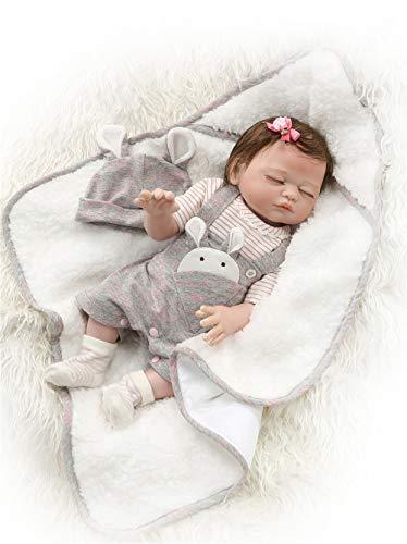 Binxing Toys Muñecas para bebés anatómicamente correctas de 20 Pulgadas Silicona de Cuerpo Completo Toque Suave de Aspecto Realista(niña)