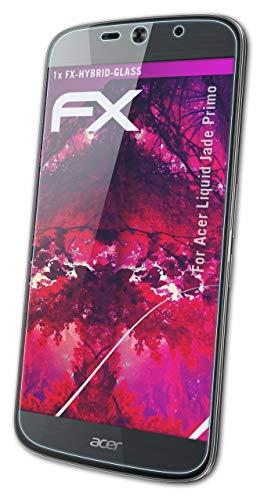 atFolix Glasfolie kompatibel mit Acer Liquid Jade Primo Panzerfolie, 9H Hybrid-Glass FX Schutzpanzer Folie