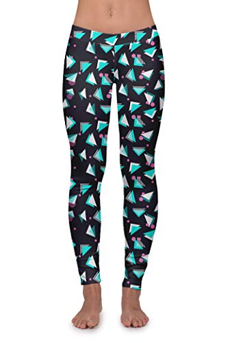 Tipsy Elves Women's Yoga Workout Pants and Fitness Workout Leggings (Tricky Triangle, Medium)