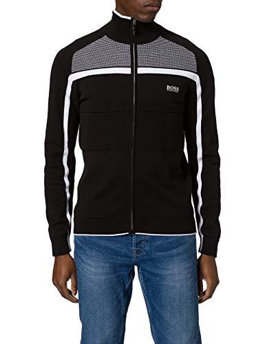 BOSS Zemot 10233027 01 Suéter, Negro1, L para Hombre