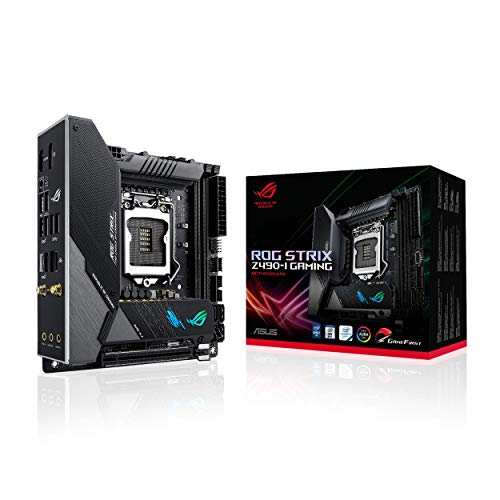 ASUS ROG Strix Z490-I Gaming Z490 (WiFi 6) LGA 1200 (Intel 10th Gen) Mini-ITX Gaming Motherboard 8+2...