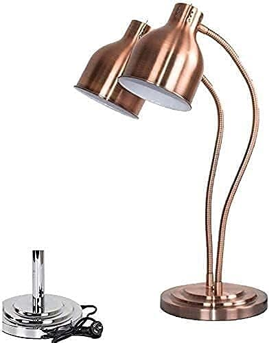 Lámpara térmica de agua portátil para cocina de Walker, lámpara de calor individual / doble bulbs Carving estación lámpara pantalla calefacción conservación de la luz, portátil 250 W