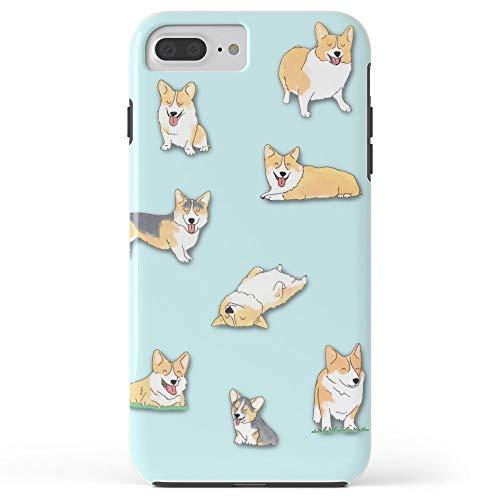 Roses Garden Phone Case Protectivedesign Cell Case Corgi Tough Case for iPhone 7 Plus