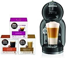 آلة قهوة دولتشي غوستو ميني مي من نسكافيه (مع 3 كبسولات صندوق)، أسود، DG0132180903 B + حزمة كابس