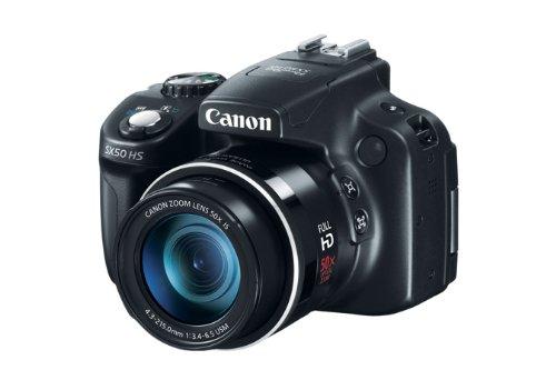 Canon PowerShot SX50 HS - Cámara compacta de 12.1 Mp (pantalla de 3', zoom óptico 50x,...
