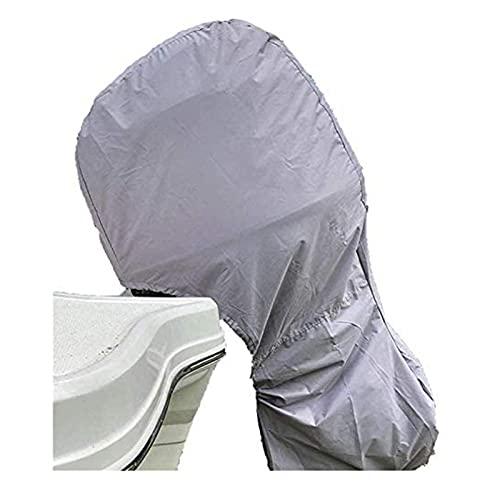 KAISUN Cubierta para Motor de Barco, Funda Fueraborda Funda Motor Fueraborda de Tela Oxford Resistente a 600D, Impermeable, Resistencia UV (100-150HP,Gris)