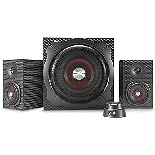 Speedlink GRAVITY CARBON 2.1 Subwoofer Lautsprechersystem - (120W Peak-Power, Bluetooth-Verbindung für Smartphone/Tablet), schwarz