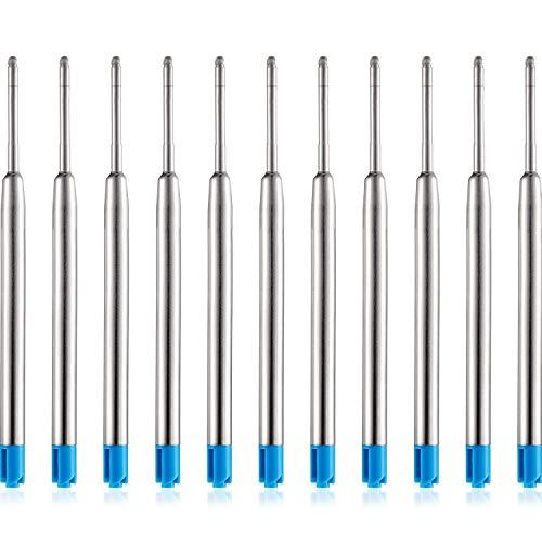 DEZHI 30 Packung Ersatz Kugelschreiber Refills Metall Nachfüllung Glatte Schreiben Kugelschreiber Nachfüllung (Blau)(Blau)