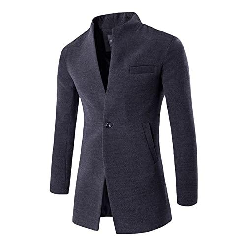 TOUXI Chaqueta de negocios casual con solapa de botón para hombres, color sólido, manga larga,...